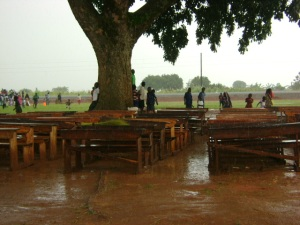 What happens when you don't have a church building and it rains.