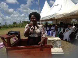 This is Evelyn, the former witch doctor, giving her testimony of committing her life to Christ.
