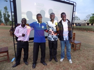 My team for the Jesus Film at Palenga Village